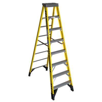 10 ft. Fiberglass Step Ladder with Shelf 375 lb. Load Capacity Type IAA Duty Rating