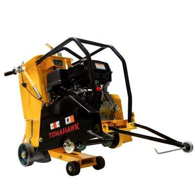 18 in. 13 HP Walk Behind Concrete Saw for Asphalt and Slab Sawing