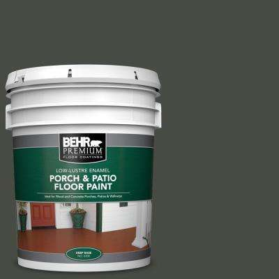 5 gal. #710F-7 Black Swan Low-Lustre Interior/Exterior Porch and Patio Floor Paint