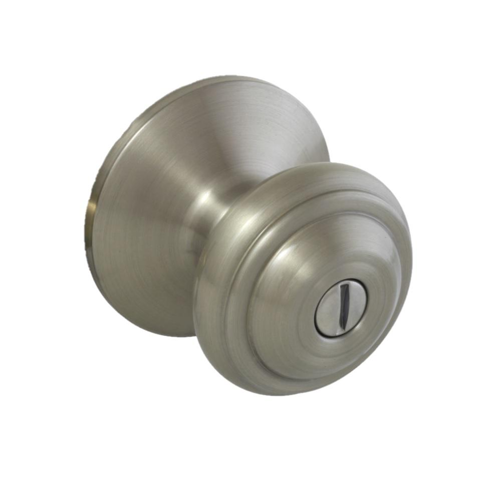Defiant Madrid Satin Nickel Bed Bath Privacy Door Knob