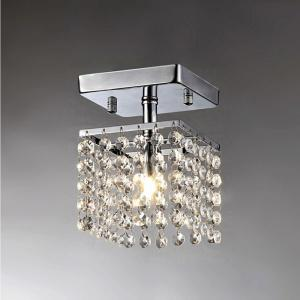 Jhea Chrome Indoor Crystal Chandelier with Shade by