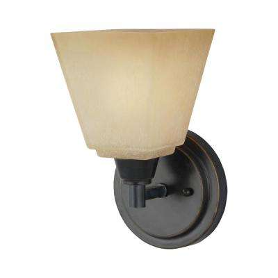 Parkfield 1-Light Flemish Bronze Sconce with LED Bulb