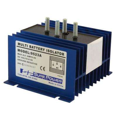 95 Amp Battery Isolator with Wiring Kit