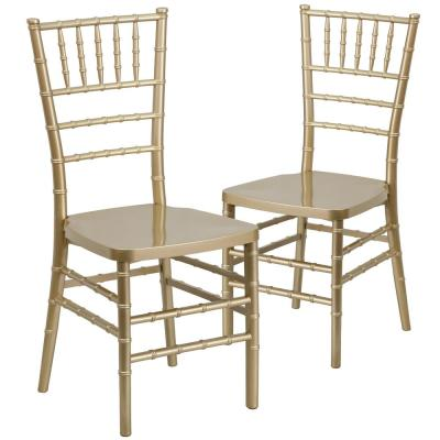 Gold Resin Chiavari Chairs (Set of 2)