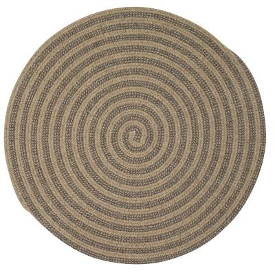 Charmed Mocha 9 ft. x 9 ft. Round Braided Area Rug
