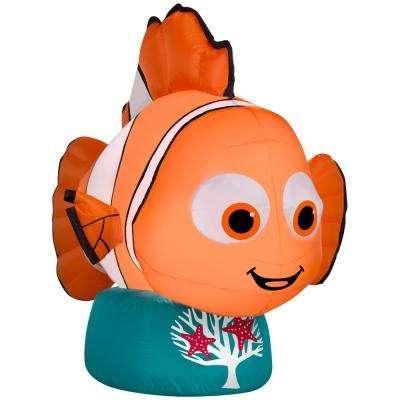 42.13 in. D x 23.23 in. W x 31.10 in. H Inflatable Nemo
