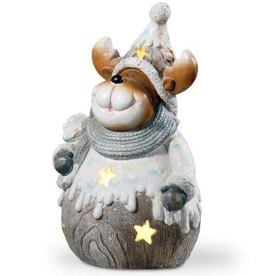 20 in. Lighted Moose Decor Piece