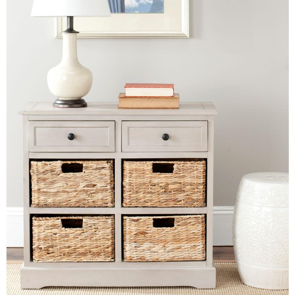 safavieh herman vintage gray chest-amh5702a - the home depot