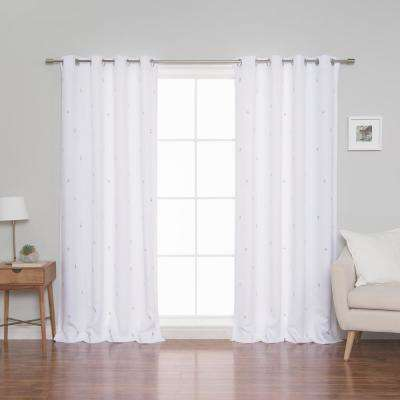 Cactus Curtains 52 in. W x 84 in. L in White (2-Pack)
