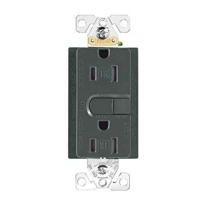 Aspire 15 Amp 125-Volt GFCI TR Duplex Receptacle with Self-Test, Silver Granite