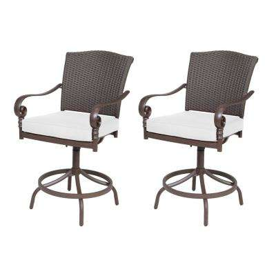 Walton Springs Swivel Aluminum Outdoor Dining Chair with Cushions Included, Choose Your Own Color (2-Pack)