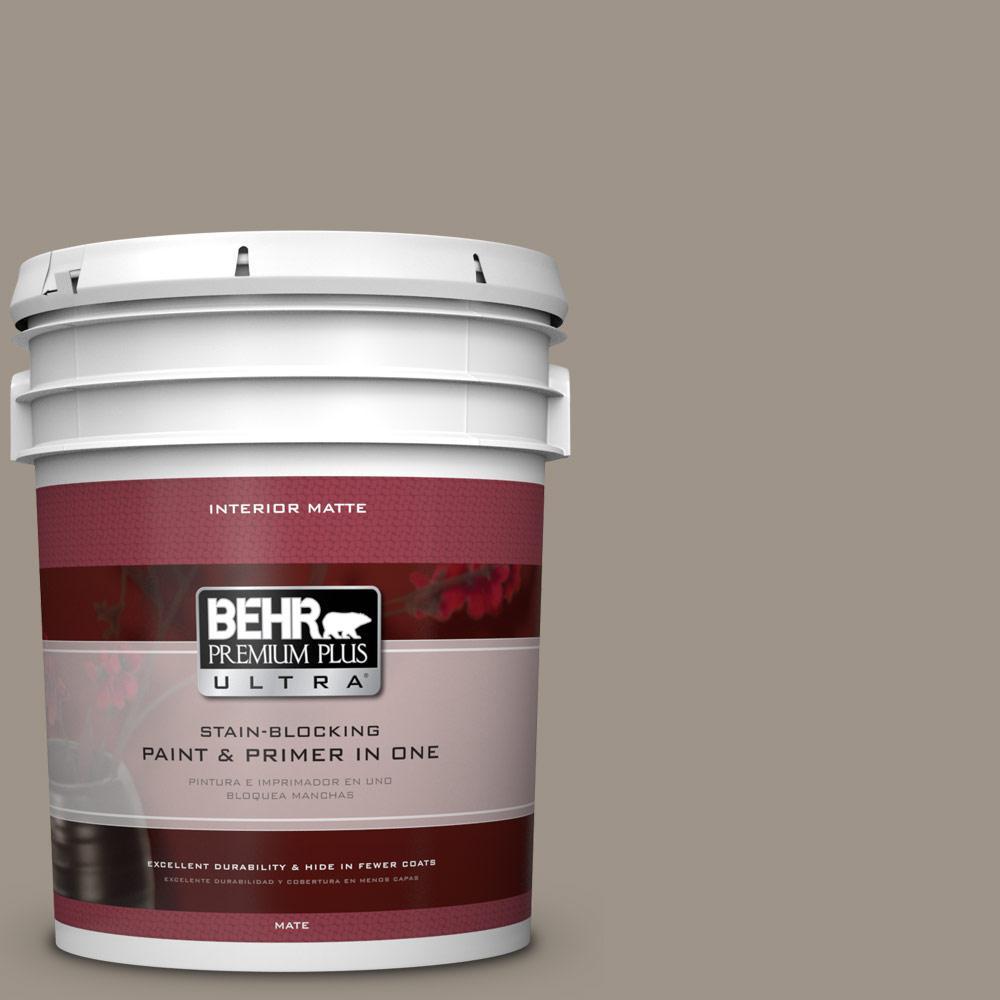 BEHR Premium Plus Ultra Home Decorators Collection 5 gal. #HDC-CT-20 Greywood Flat/Matte Interior Paint
