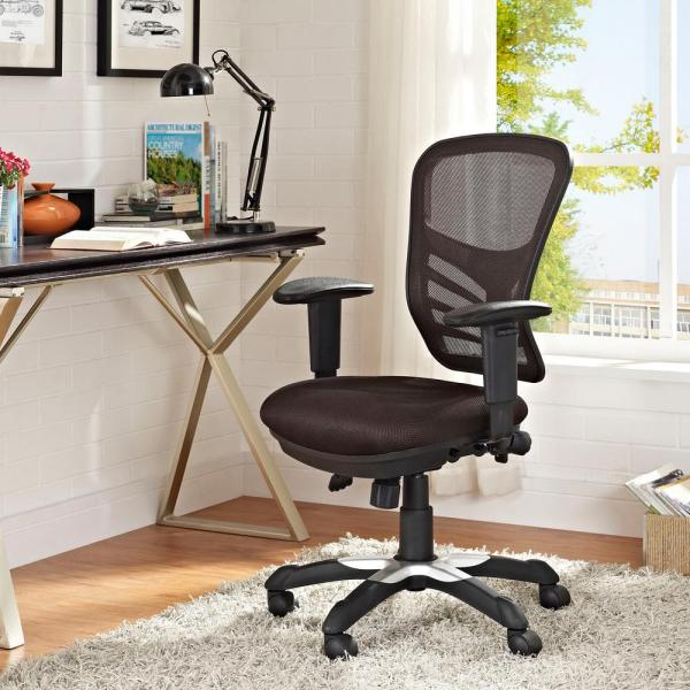 MODWAY Articulate Mesh Office Chair in Brown EEI-757-BRN