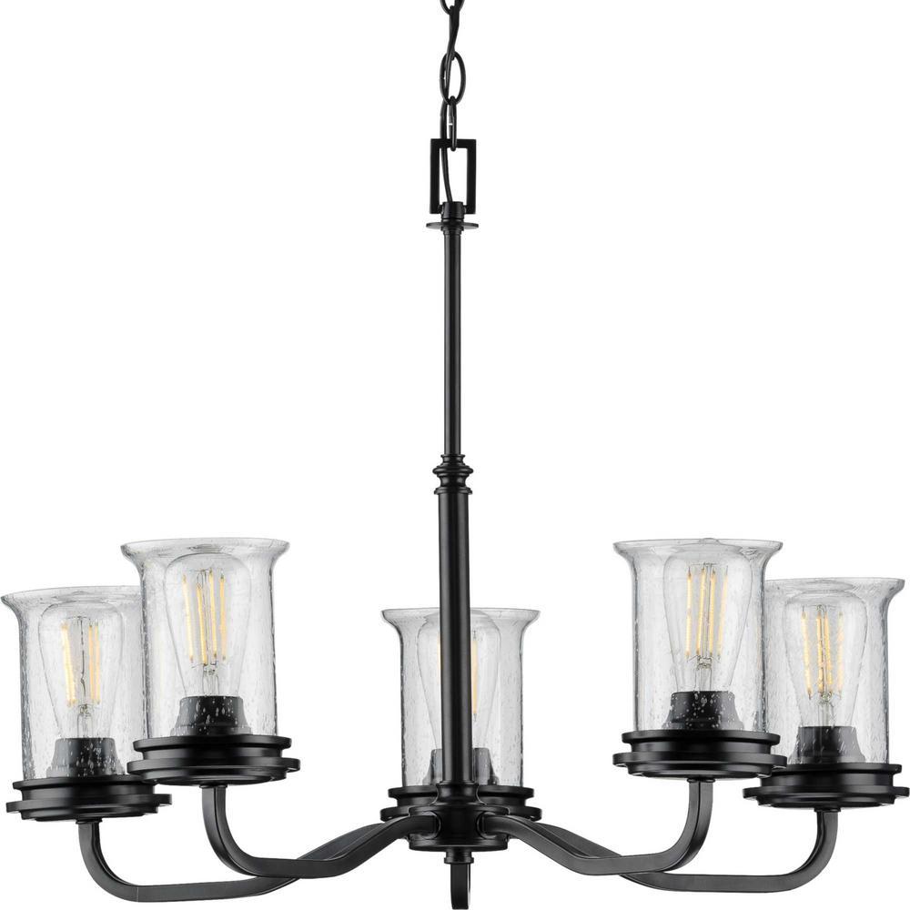 Winslett Collection Black 5-Light Chandelier