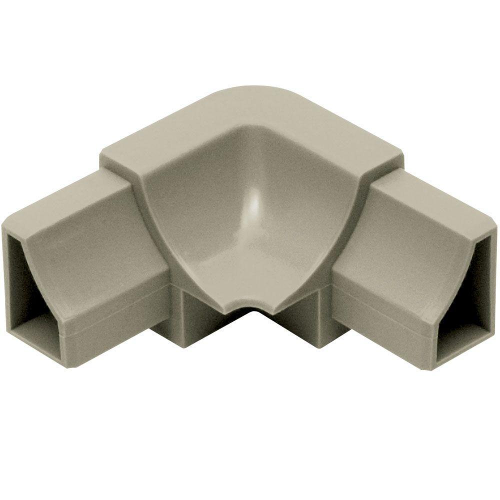 Dilex-HK Grey 1 in. x 2 in. PVC 2-Way Inside Corner