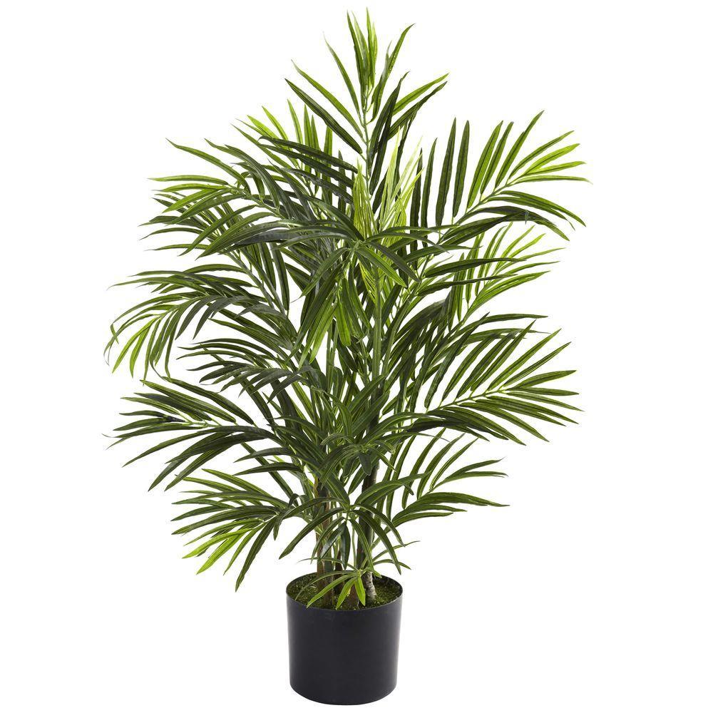 2.5 ft. Artificial Areca Palm Tree UV Resistant Indoor/Outdoor