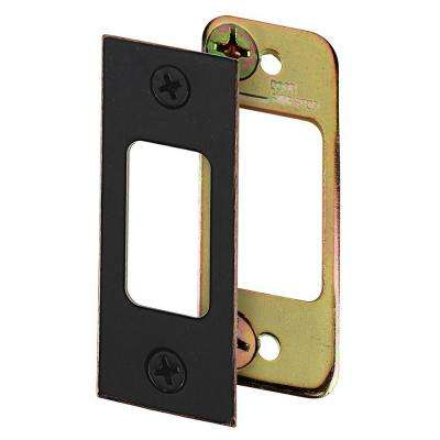 2-3/4 in. Aged Bronze Deadbolt Strike