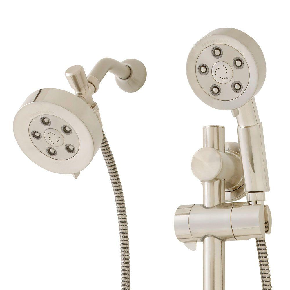 Anystream Neo Slider Shower System in Brushed Nickel