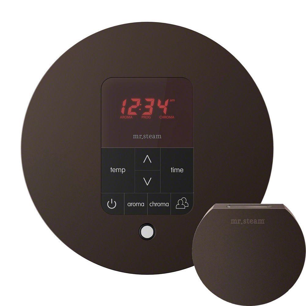 iTempo Plus Control with AromaSteam Steam Head Round for Steam Bath Generator in Oil Rubbed Bronze