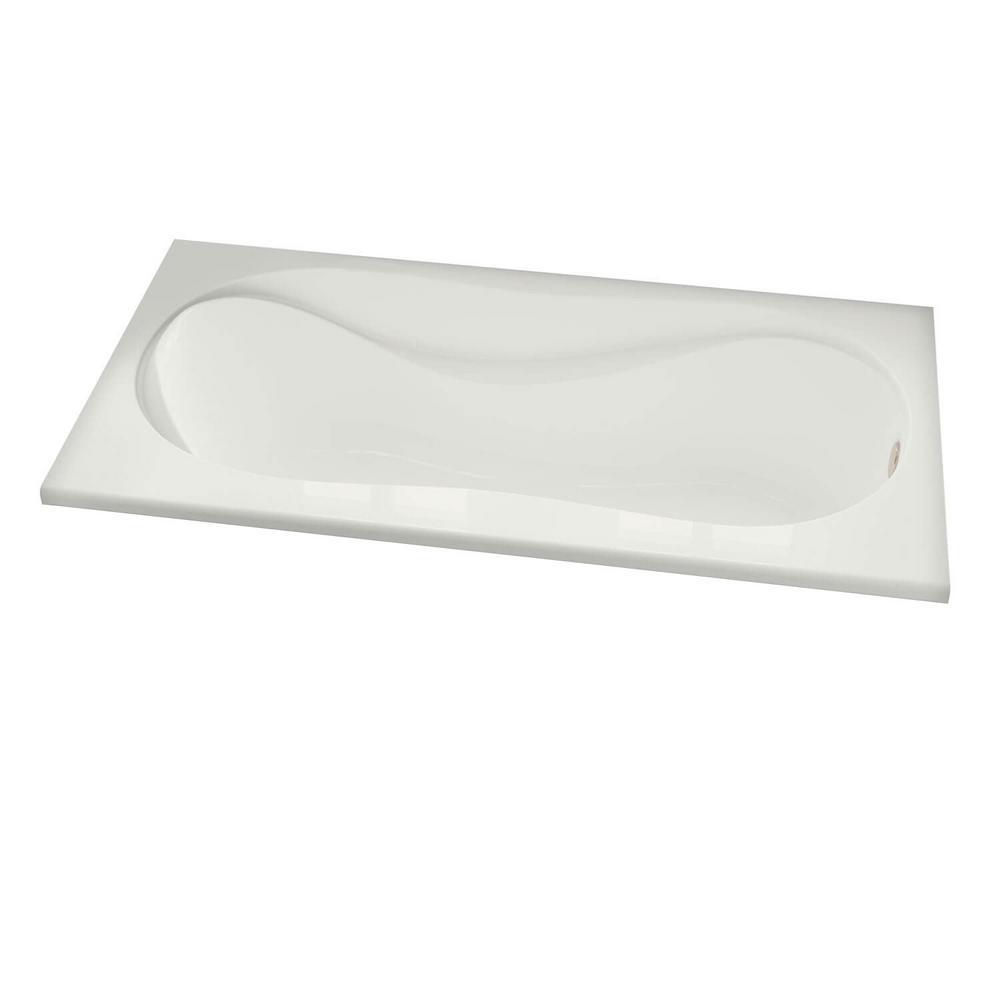 MAAX Cocoon 60 in. Acrylic Rectangular Drop-in Bathtub in ...