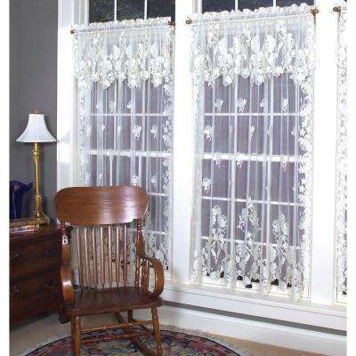 Windsor Ecru Lace Curtain 60 in. W 84 in. L