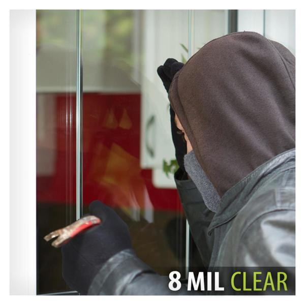 8mil Clear Safety Film 5ft x 10ft Car Security Window Sheet Solar Tint
