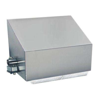 Stainless Solutions Double Post Slanted Covered Toilet Paper Holder in Steel with Angled Splash Cover