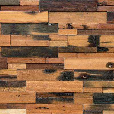 Reclaimed Wood 1/2 in. x 24 in. x 12 in. Multi Balau Boat Wood Wall Panel (10-Box)