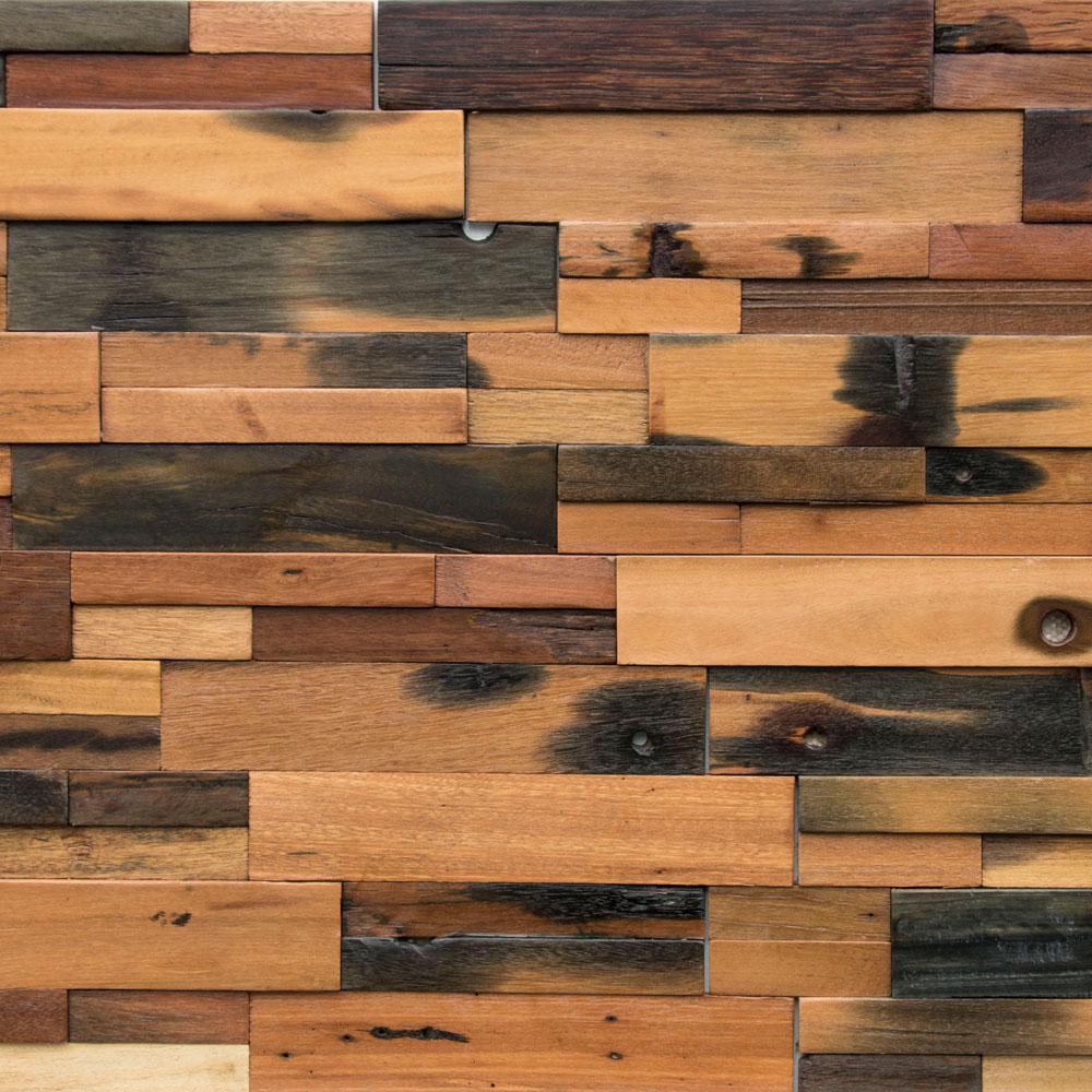 Wood And Wall.Reclaimed Wood 1 2 In X 24 In X 12 In Multi Balau Boat Wood Wall Panel 10 Box