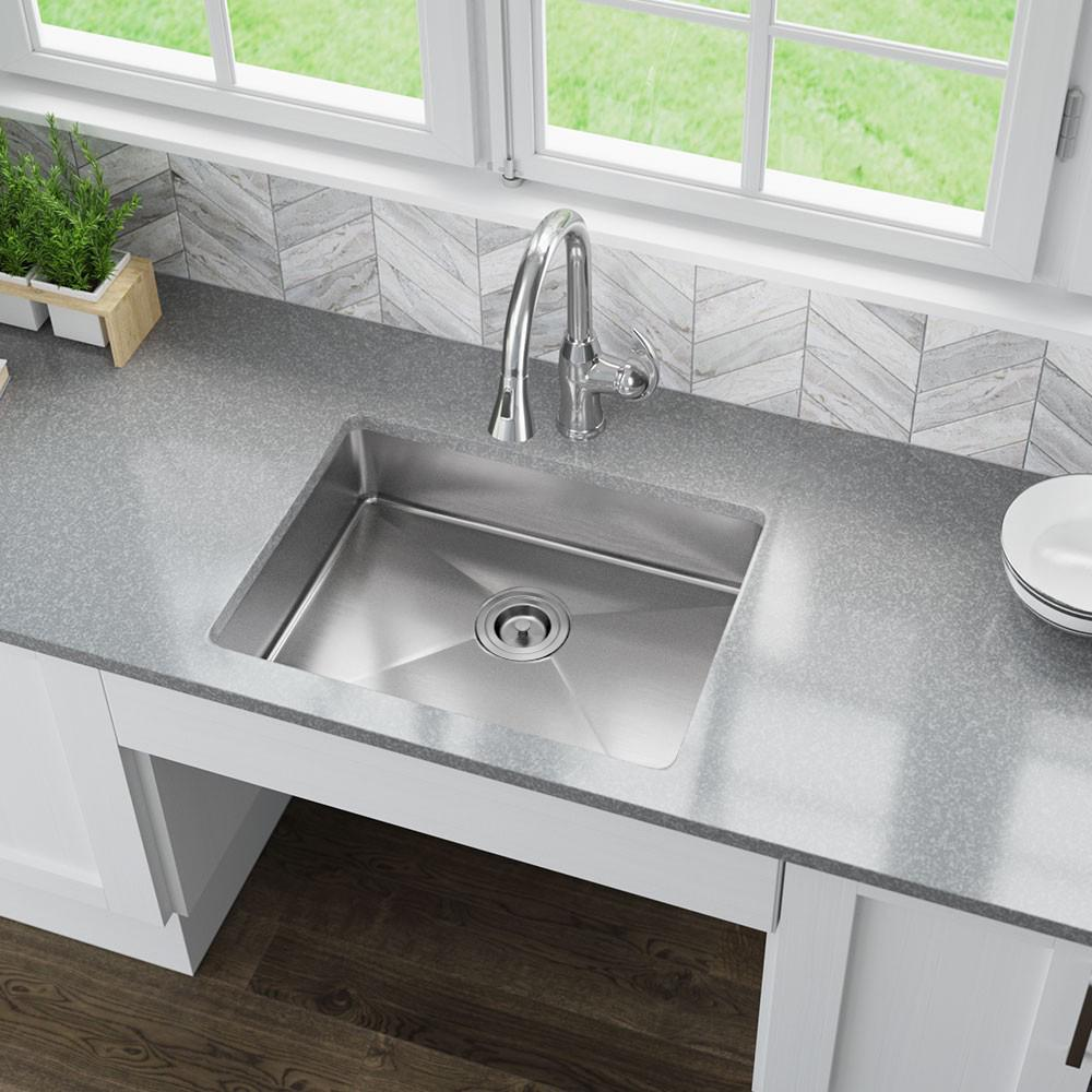 Mr Direct Undermount Stainless Steel 23 In Single Bowl Kitchen Sink Ada1823 The Home Depot