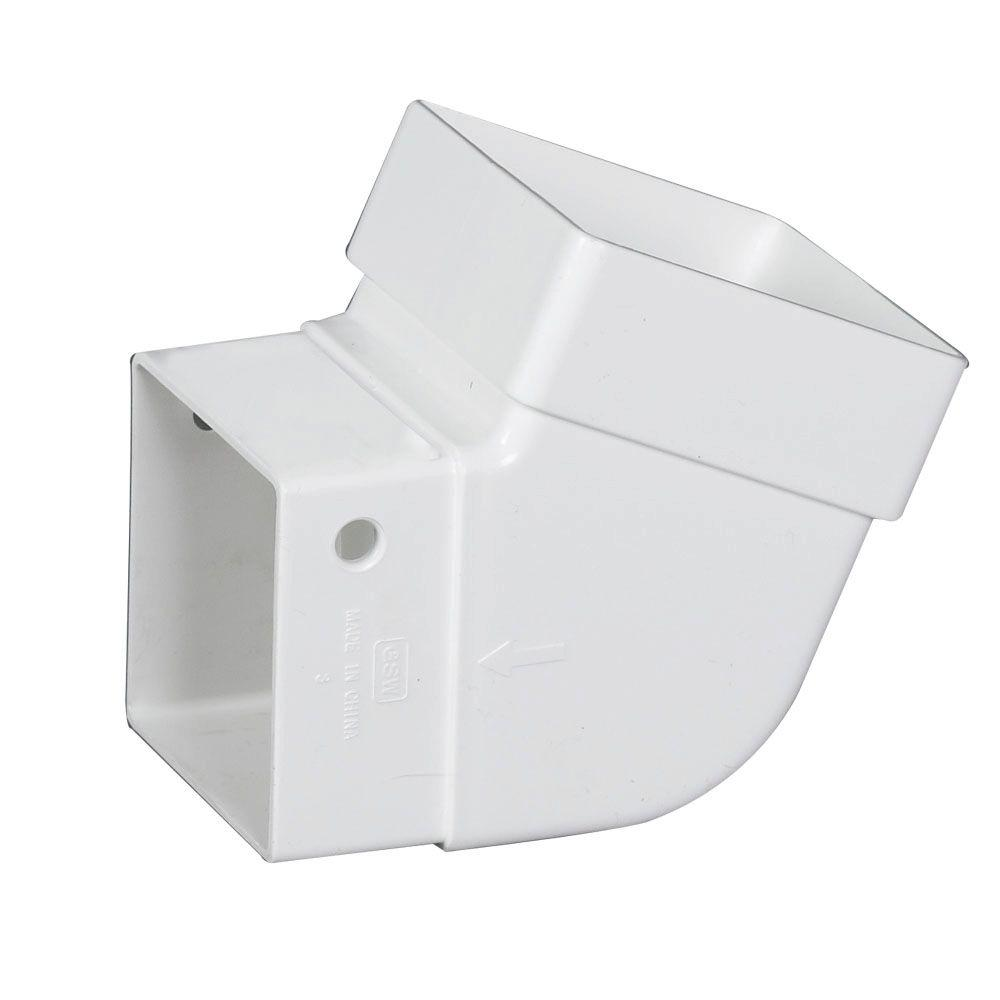 Amerimax Home Products 2 in. x 2 in. White Vinyl Universal Elbow