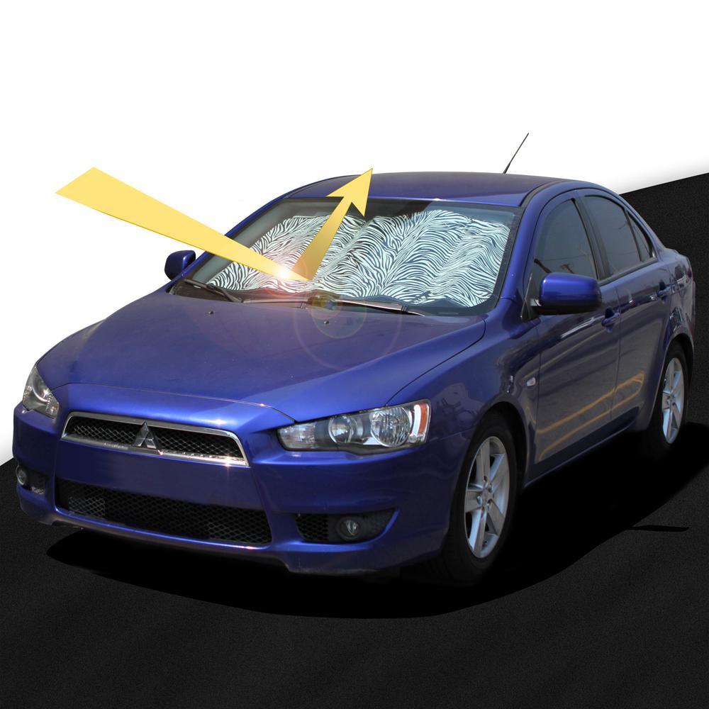 White Zebra Auto Sun Visor UV Protection Heat Shield