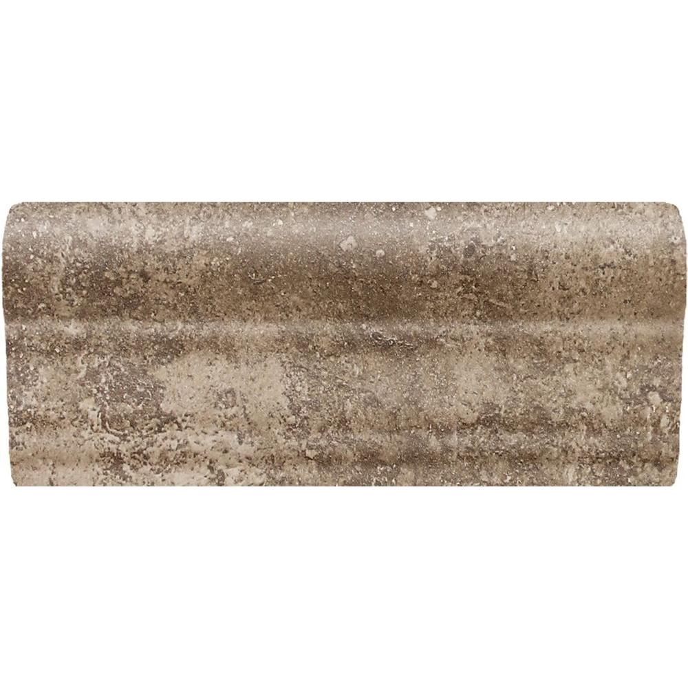 Daltile Santa Barbara Pacific Sand 2 In. X 6 In. Ceramic Chair Rail Wall