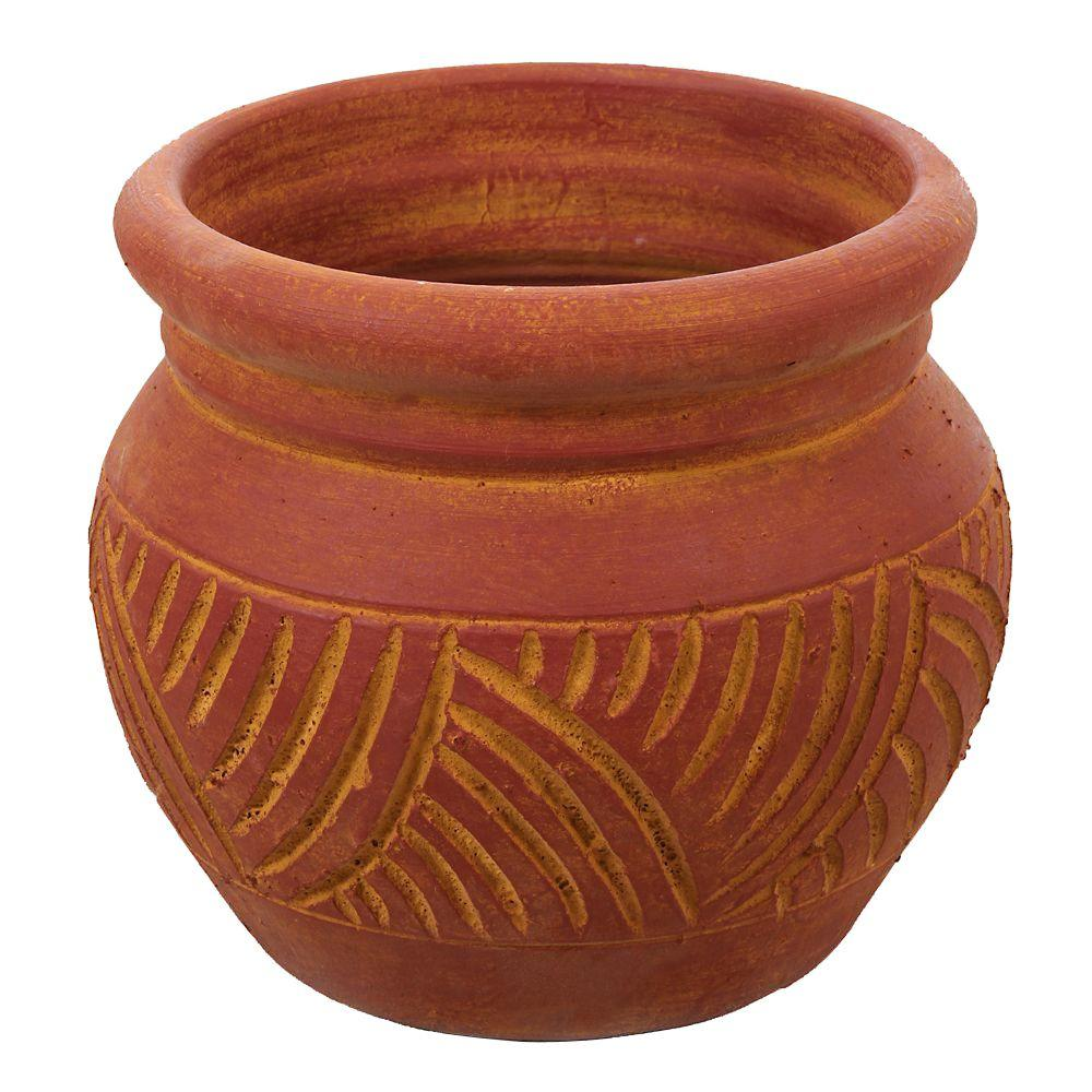 Margo Garden Products 12 1 2 In Round Terra Cotta Cabral