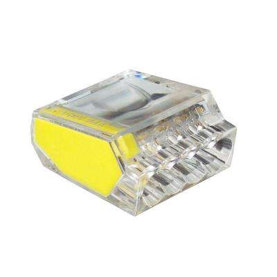 PushGard 4-Port Push-In Connector, Yellow (10-Pack) Case of 10