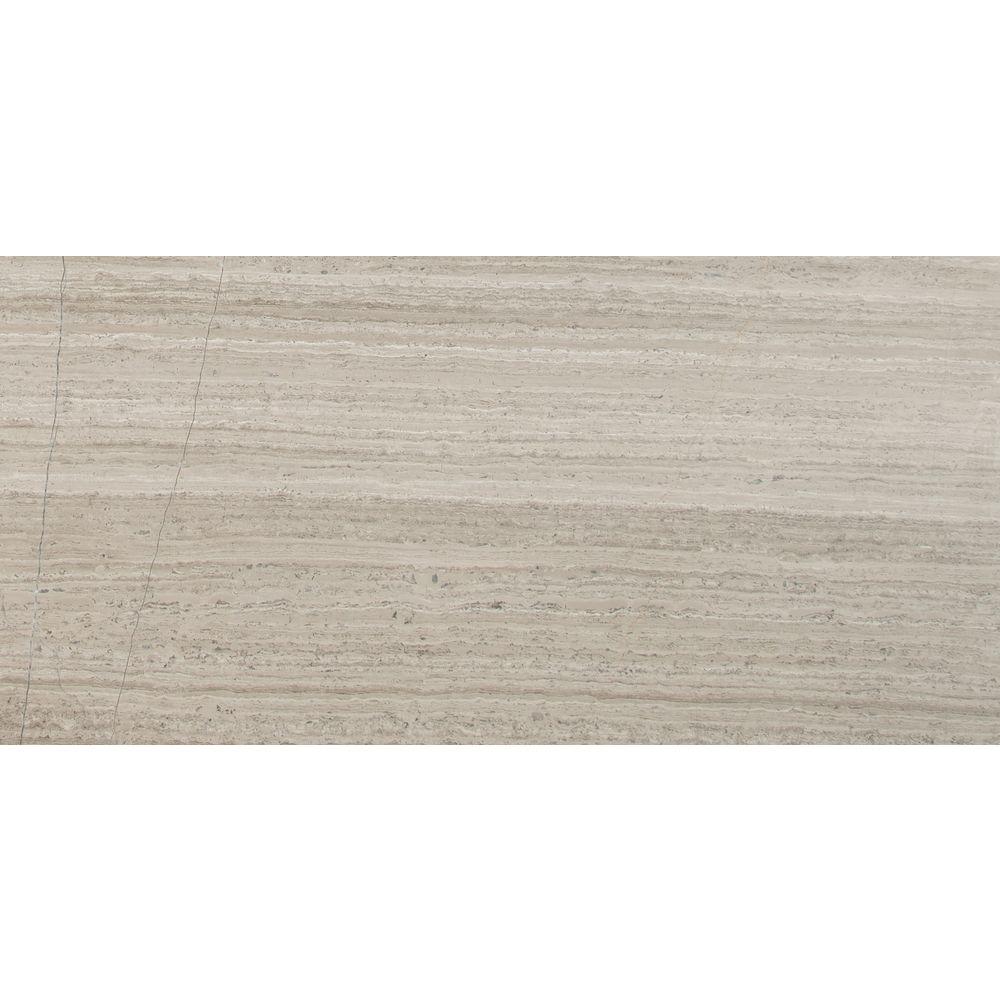 Msi Gray Oak 12 In X 24 In Honed Marble Floor And Wall Tile 10 Sq