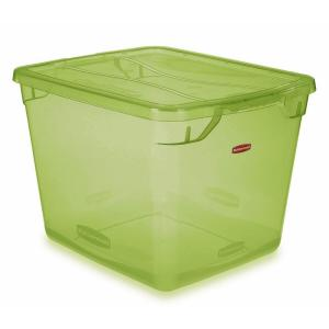 Rubbermaid Clever Store 30 Qt. Non-Latching Storage Tote in Clear Lime Green-FG3Q27LWTSLM - The Home Depot  sc 1 st  The Home Depot & Rubbermaid Clever Store 30 Qt. Non-Latching Storage Tote in Clear ...