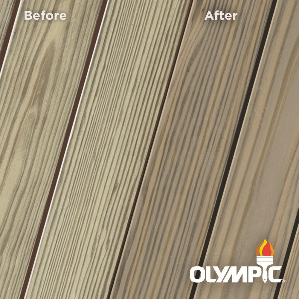 Olympic Elite 8 oz. Olivewood Semi-Solid Exterior Wood Stain and Sealant in One