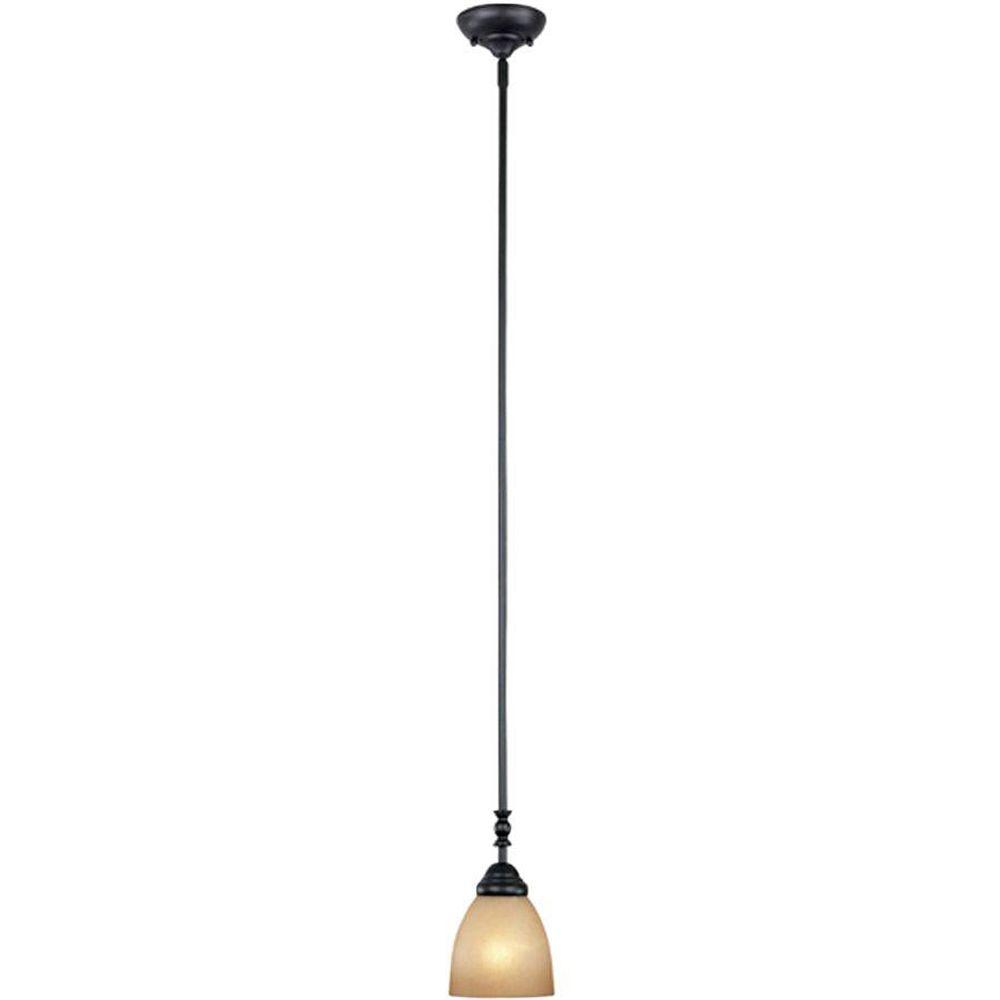 Branson Collection 1-Light Oil-Rubbed Bronze Hanging Pendant