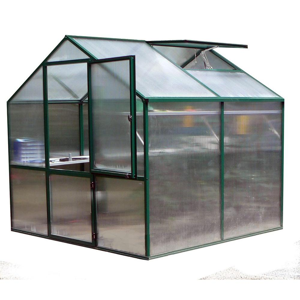 null Rose II 7 ft. 1 in. D x 7 ft. 7 in. W Greenhouse