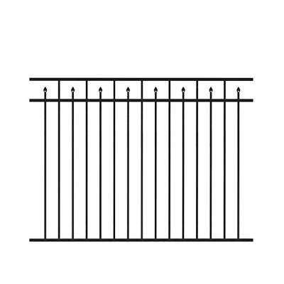 Brilliance 4.5 ft. H x 6 ft. W Black Aluminum Fence Kit