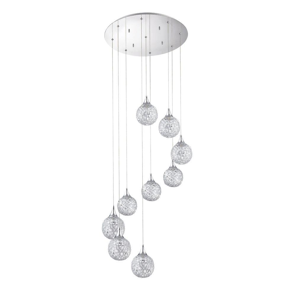 Designers Choice Collection SOLARO Series 9-Light Chrome Pendant