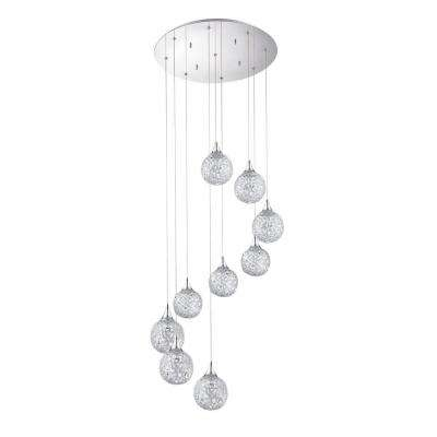 SOLARO Series 9-Light Chrome Pendant
