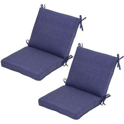 Sky Mid-Back Outdoor Dining Chair Cushion (Pack of 2)