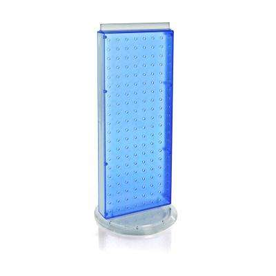 20 in. H x 8 in. W Pegboard Counter Display in Blue Styrene