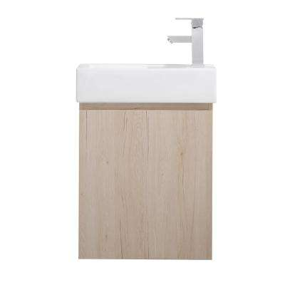Breeze 20 in. W x 10 in. D Bath Vanity in Oak with Porcelain Vanity Top in White with White Basin