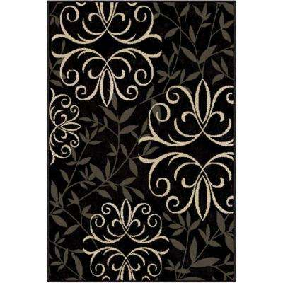 Fergie Jet Black 5 ft. x 8 ft. Indoor Area Rug