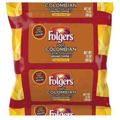 14 oz. Colombian Ground Coffee Filter Pack Ground Caffeinated, Bold