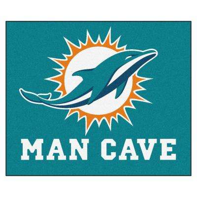 Miami Dolphins Blue Man Cave 5 ft. x 6 ft. Area Rug