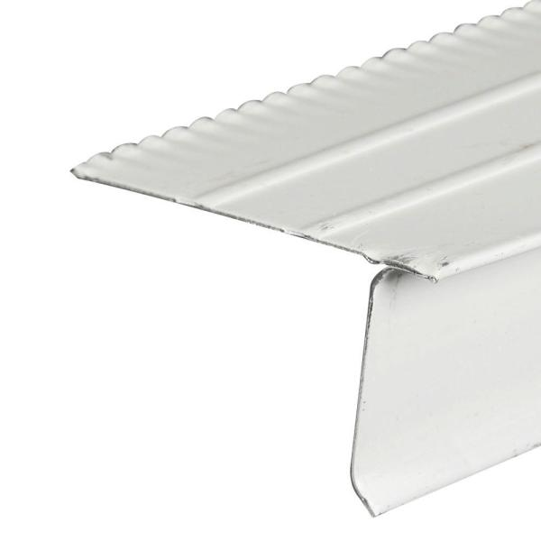 F5M White Aluminium Drip Edge Flashing